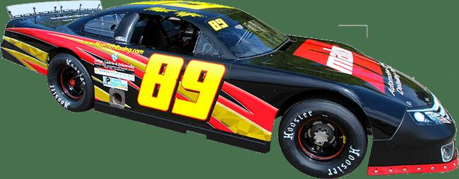 Matt Tifft Racing (#89) stock car racing graphics.