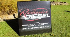 Building sign for Rochester Diesel Rochester, Minnesota