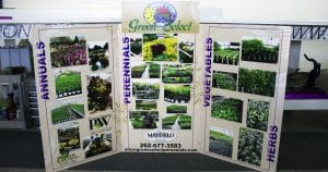 POP trade show display sign for Mayfield Nursery West Bend, Wisconsin
