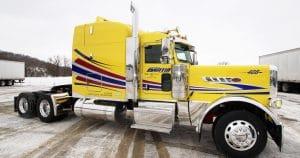 Peterbilt 389 truck lettering & graphics for Martin Milk Service Wilton, Wisconsin