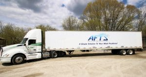 Semi trailer lettering & graphics for AFTS and Lumber Sales & Products Jackson, Wisconsin