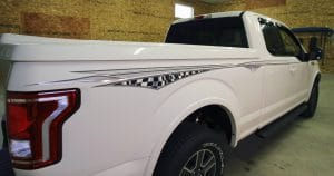 Ford F150 printed graphics from Milwaukee, Wisconsin