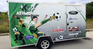 Cargo trailer wrap for Kewaskum Youth Soccer Organization Kewaskum, Wisconsin