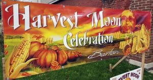 Printed banner for Harvest Moon Celebration Barton, Wisconsin