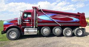 Kenworth dump truck lettering & graphics for Zee Trucking Janesville, Wisconsin