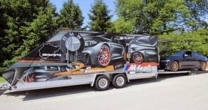 BMW M4GTS trailer wrap from Colby, Wisconsin