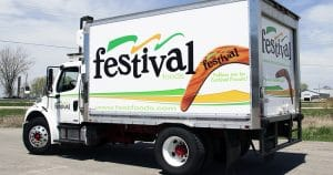 Box truck lettering & graphics for Festival Foods De Pere, Wisconsin