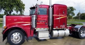 Peterbilt 379 truck lettering & graphics for Wiese Trucking Lomira, Wisconsin