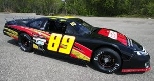 Race car lettering & graphics for Iron Eagle Racing Sparta, Wisconsin