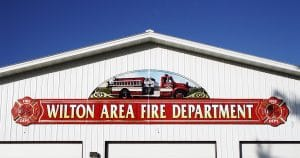 Building mount sign for Wilton Fire Department Wilton, Wisconsin