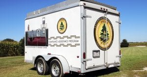 Cargo trailer lettering & graphics for Oneida Environmental Oneida, Wisconsin