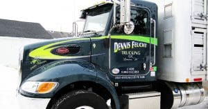 Peterbilt truck lettering & graphics for Dennis Feucht Trucking Lomira, Wisconsin