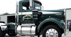 Kenworth truck lettering & graphics for Martin Milk Service Wilton, Wisconsin