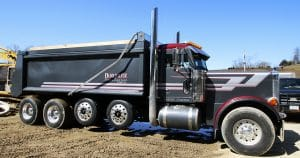 Peterbilt dump truck lettering & graphics for Andy Burkhalter Wilton, Wisconsin