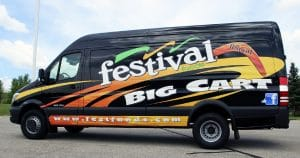 Dodge sprinter van lettering & graphics for Festival Foods La Crosse, Wisconsin