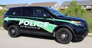 Ford Explorer reflective police lettering & graphics for Kewaskum Police Kewaskum, Wisconsin