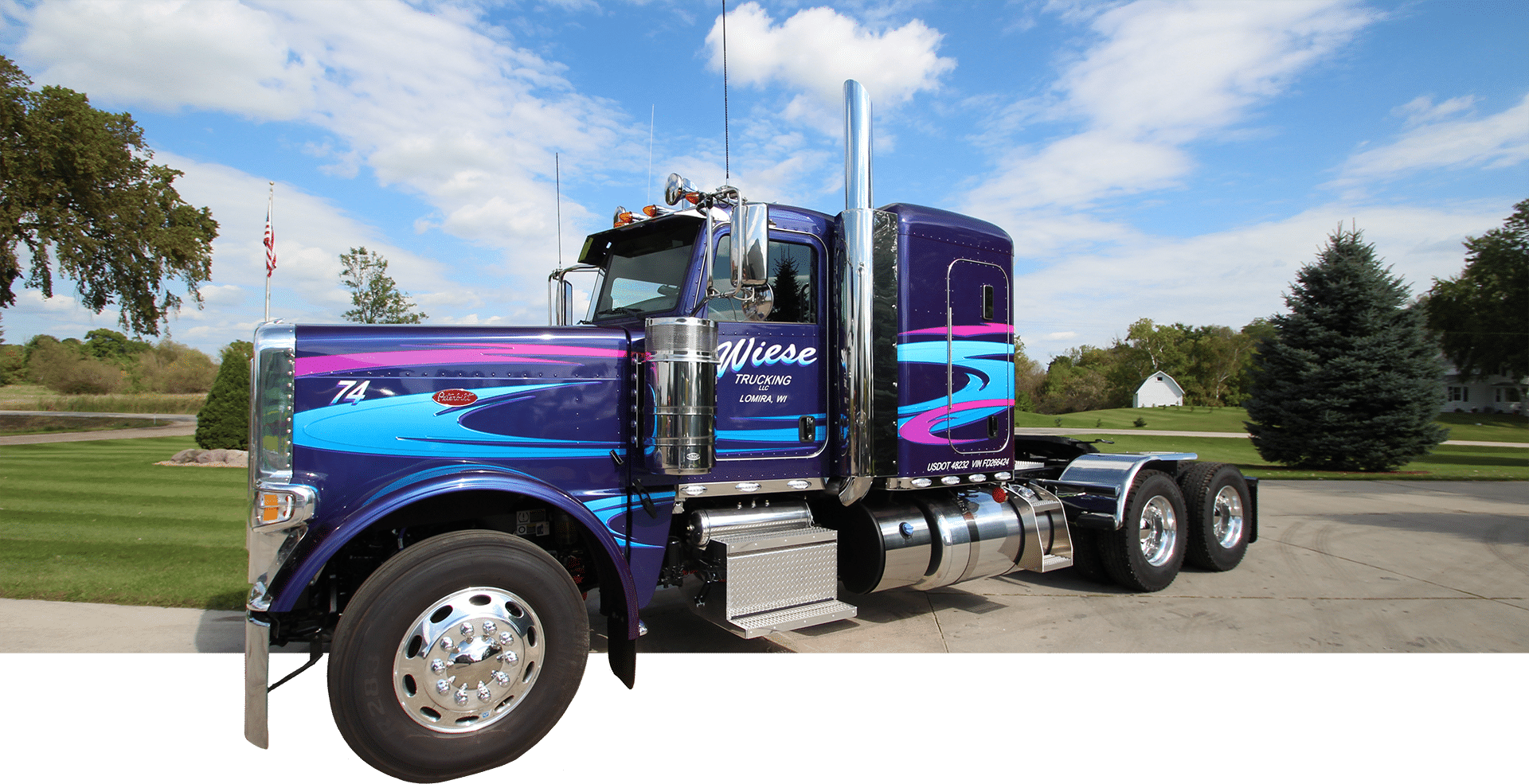 Wiese Trucking truck lettering picture portfolio.