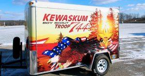 Boy Scout enclosed trailer wrap