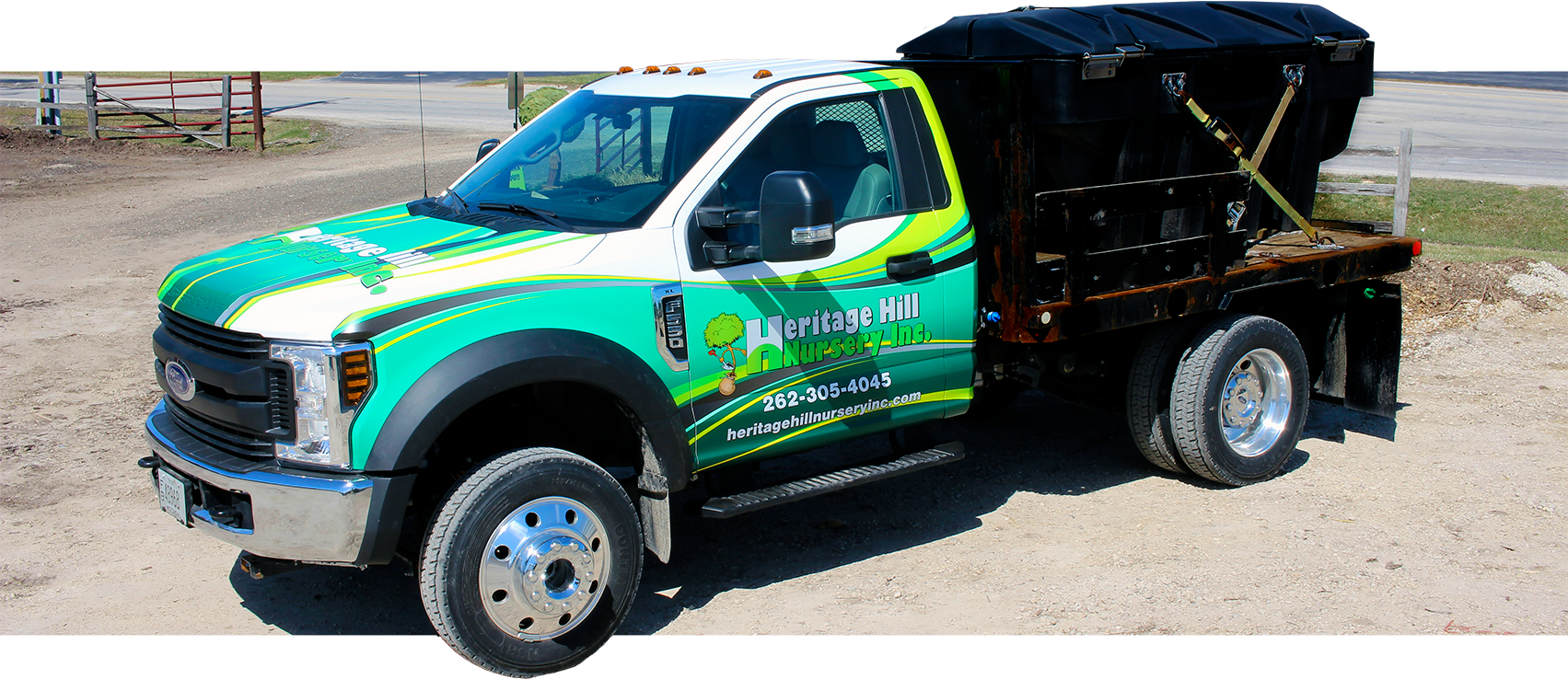 Heritage Hill Nursery Inc. vinyl truck wrap (Cedarburg, WI).