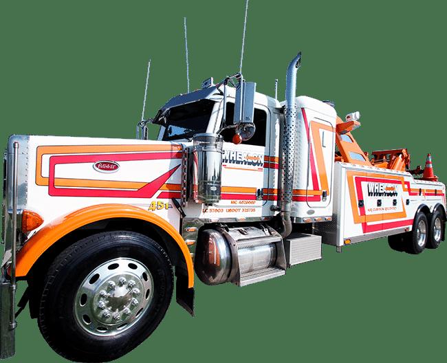 Whealon Towing vinyl truck lettering (Fond du Lac, WI).